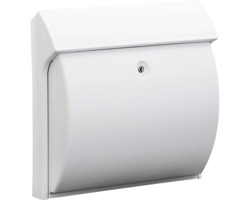 Burg Wächter Briefkasten Kunststoff BxHxT 384/375/145 mm Classico weiß mit Klappe + Öffnungsstopp