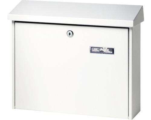 Burg Wächter Briefkasten Stahl pulverbeschichtet BxHxT 377/320/115 mm Castello 450 weiß mit Klappe