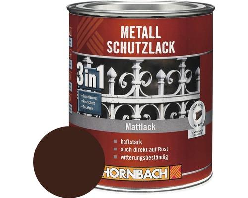 Metallschutzlack 3in1 matt braun 750 ml