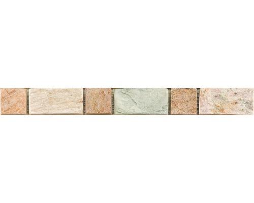 Natursteinbordüre CM-57111 Grau 30,5x3,3 cm