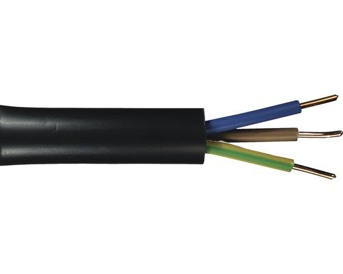 Erdkabel NYY-J 3x1,5 mm² 10 m schwarz