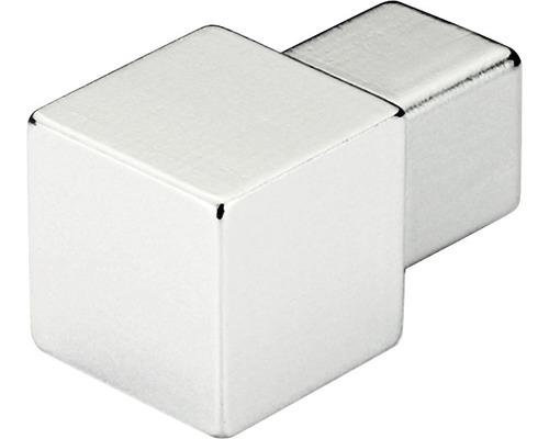 Eckstück Dural Squareline Aluminium Chrom 9 mm