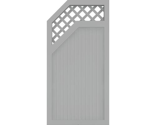 Abschlusselement BasicLine Typ E links 90 x 180 cm, silbergrau