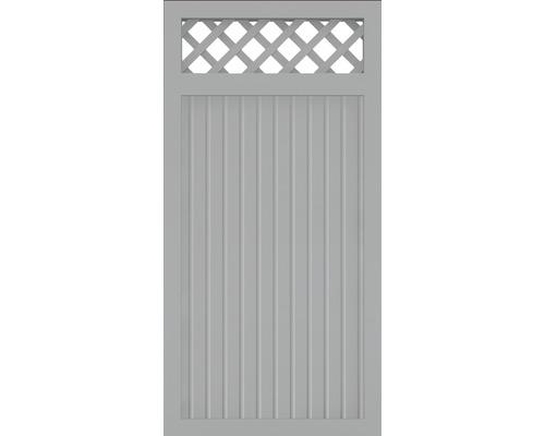 Hauptelement BasicLine Typ C 90 x 180 cm, silbergrau