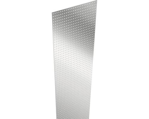 Designeinsatz Lochblech 180 x 15 cm, silber