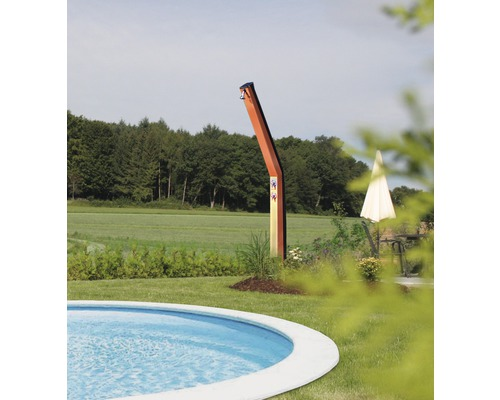 Solardusche H 2,3 m Stahl rot