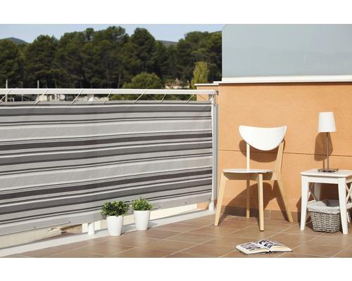 Balkonverkleidung CATRAL 300x90 cm schwarz-grau
