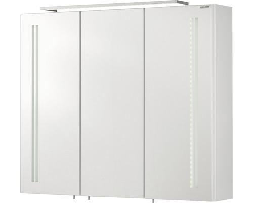 Spiegelschrank LG 80 FACKELMANN weiß 3 T 80x68 cm IP 20