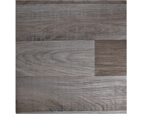 PVC Puccini Stabparkett braun-silber 400 cm breit (Meterware)