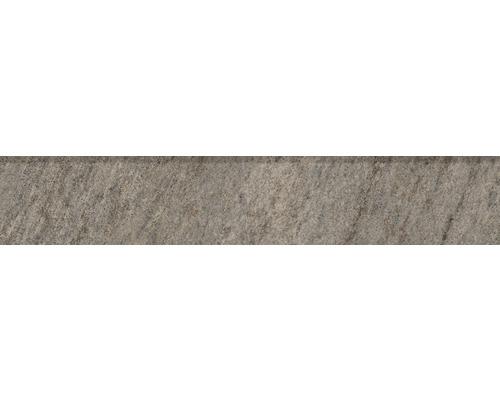 Sockelfliese Quarzit gris 8x45 cm