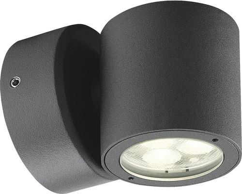 LED Außenwandleuchte 1x1W 243 lm 3000 K warmweiß H 85 mm Spirit dunkelgrau