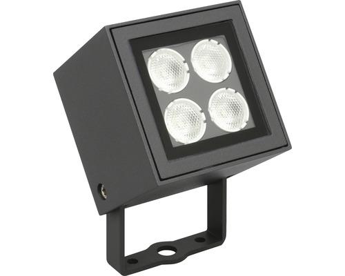 LED Außenwandspot 4x2W 4x440 lm 3000 K warmweiß Brick dunkelgrau