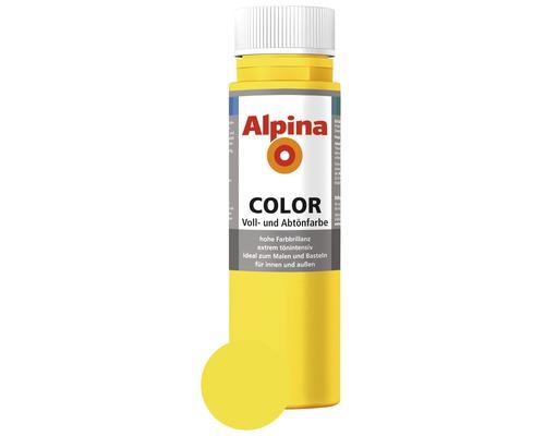 Alpina Voll- und Abtönfarbe Sunny Yellow 250 ml