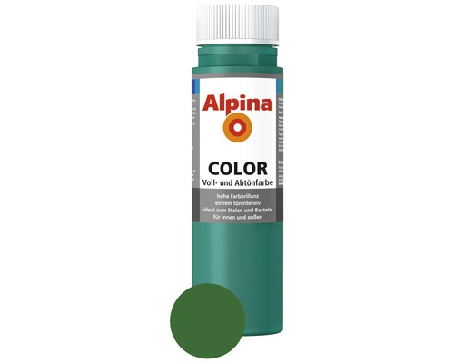 Alpina Voll- und Abtönfarbe Deep Green 250 ml