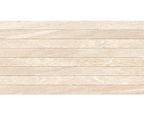 Feinsteinzeug Dekorfliese Sahara Creme 32 x 62,5 cm