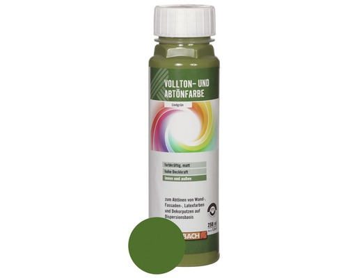 Volltonfarbe Abtönfarbe lindgrün 250 ml
