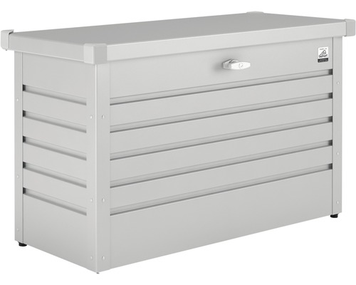 Auflagenbox biohort FreizeitBox 100, 101 x 46 x 61 cm, silbermetallic