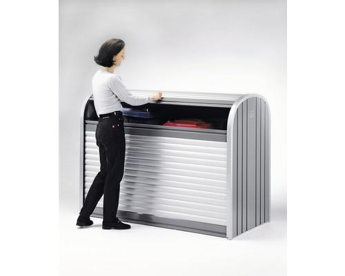 Mülltonnenbox biohort StoreMax 190, 190x97x136 cm silber-quarzgrau