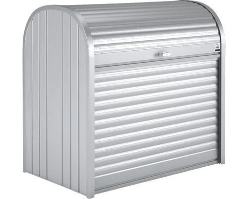 Mülltonnenbox biohort StoreMax 120, 117 x 73 x 109 cm, silber-metallic