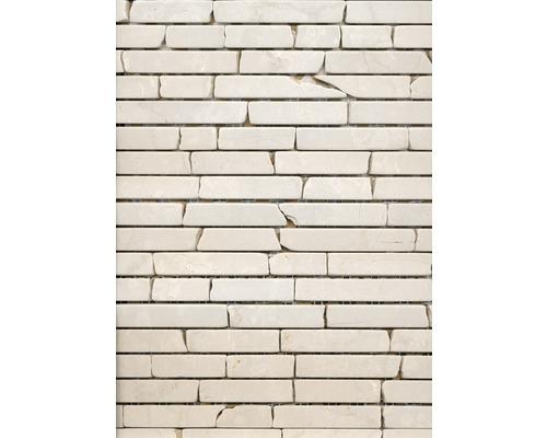 Natursteinmosaik MOS BRICK 13R 30,5x32,2 cm beige