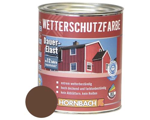 Holzfarbe Wetterschutzfarbe braun 750ml