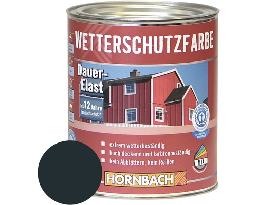 HORNBACH Holzfarbe Wetterschutzfarbe anthrazitgrau 750ml