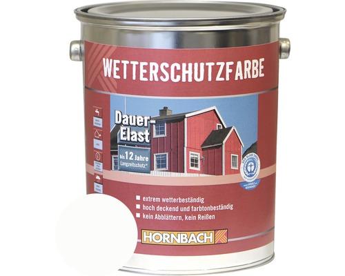Holzfarbe Wetterschutzfarbe weiß 5 L