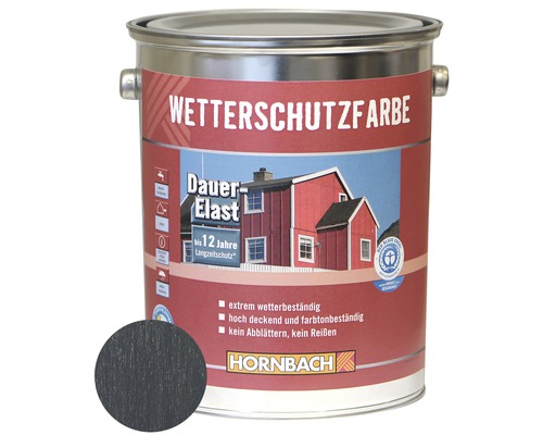 Holzfarbe Wetterschutzfarbe anthrazitgrau 5 L