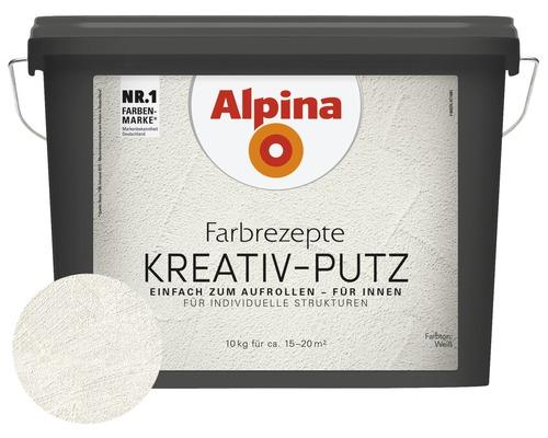 Alpina Effektfarbe Farbrezepte Kreativ Putz Weiss 10 Kg Bei Hornbach Kaufen