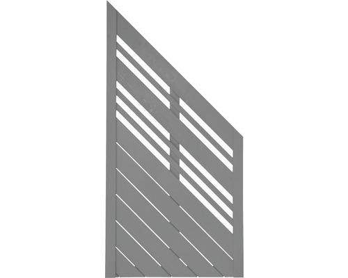 Abschlusselement Konsta Reddy rechts 90 x 180/90 cm, grau
