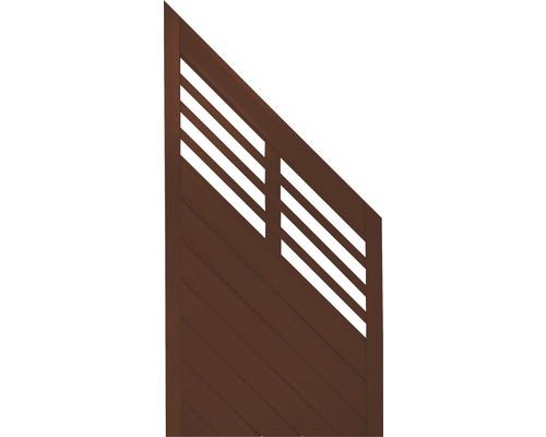 Abschlusselement Konsta Style rechts 90 x 180/90 cm, braun
