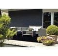 Kunstrasen Zakura mit Drainage schwarz 200 cm breit (Meterware)