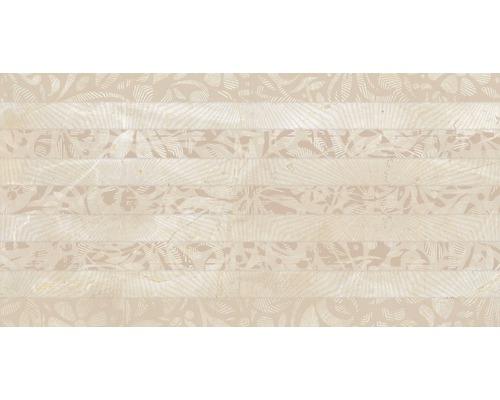 Steingut Dekorfliese Marfil Beige 34 x 67 cm