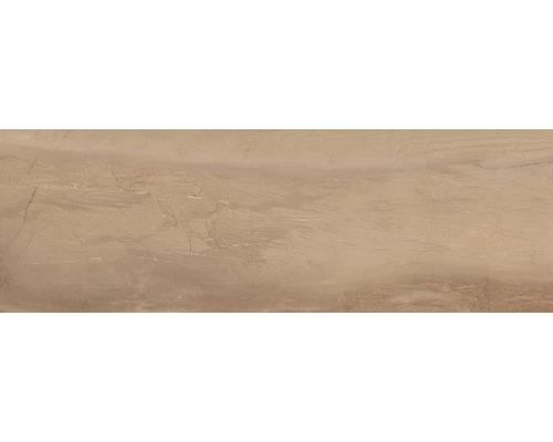 Steingut Wandfliese Terra brown 25 x 75 cm