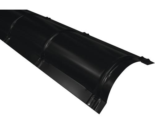 PRECIT Firstblech halbrund jet black RAL 9005 2000 x 114 x 280 mm