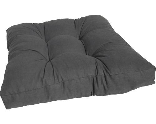 Loungekissen Baumwolle 60x60 cm anthrazit