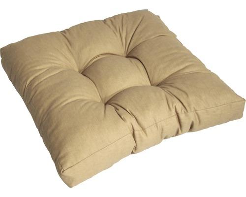 Loungekissen Baumwolle 60x60 cm sand