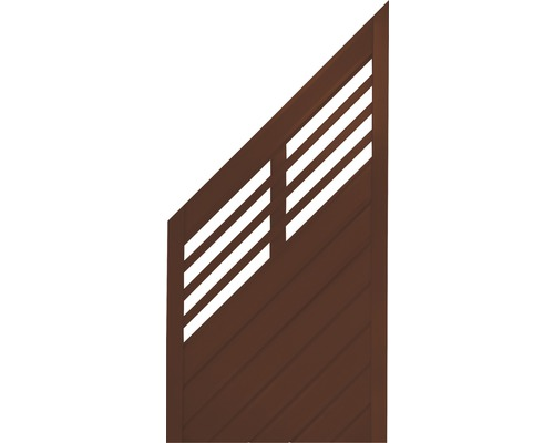Abschlusselement Konsta Style links 90 x 180/90 cm, braun