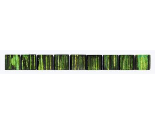 Glasbordüre grün 3x28,8 cm