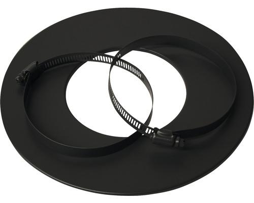 Rosette für Alu-Flexrohr Ø80 mm pulverbeschichtet schwarz
