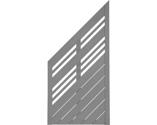 Abschlusselement Konsta Reddy links 90 x 180/90 cm, grau