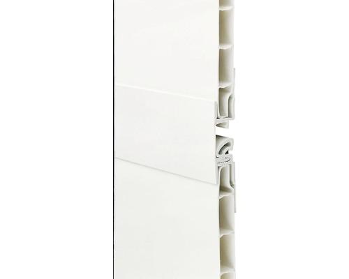 Verbindungsleiste Kunststoff weiß für Paneelstärken 8-10 mm 9x27x2600 mm