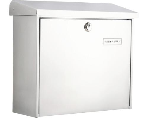 Burg Wächter Briefkasten Metall verzinkt BxHxT 380/340/148 mm Comfort 913 weiß mit Klappe + Öffnungsstopp