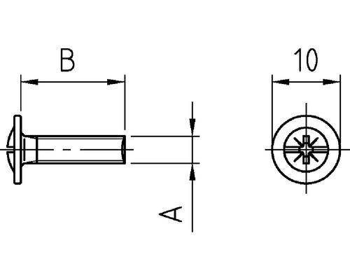 Möbelgriffschrauben M4x27 mm 100 Stück