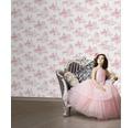 Kindertapete Kids@Home Princess Pink Toile rosa