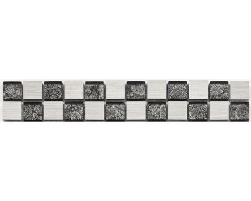 Glasbordüre silber 30x4,8 cm