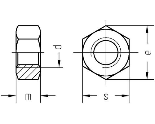 Sechskantmutter DIN 934 M8 Polyamid, 50 Stück