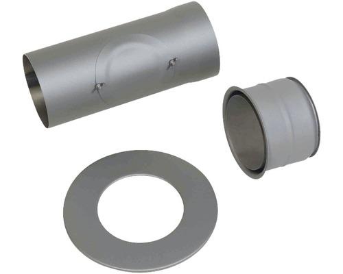 Kaminofen-Set Ø150 mm Senotherm lackiert titan