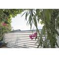 Balkonverkleidung Stripes 500 x 90 cm, grau-weiß
