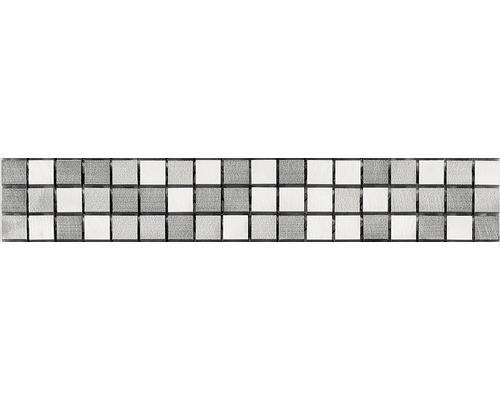 Metallbordüre grau 4,9x30,5 cm